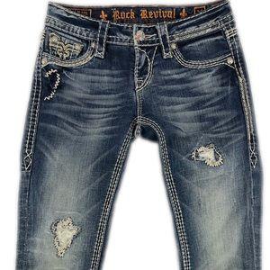 Rock Revival Women's Kai Capri Buckle Jeans
